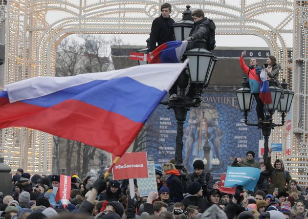 Protests in Moscow earlier this