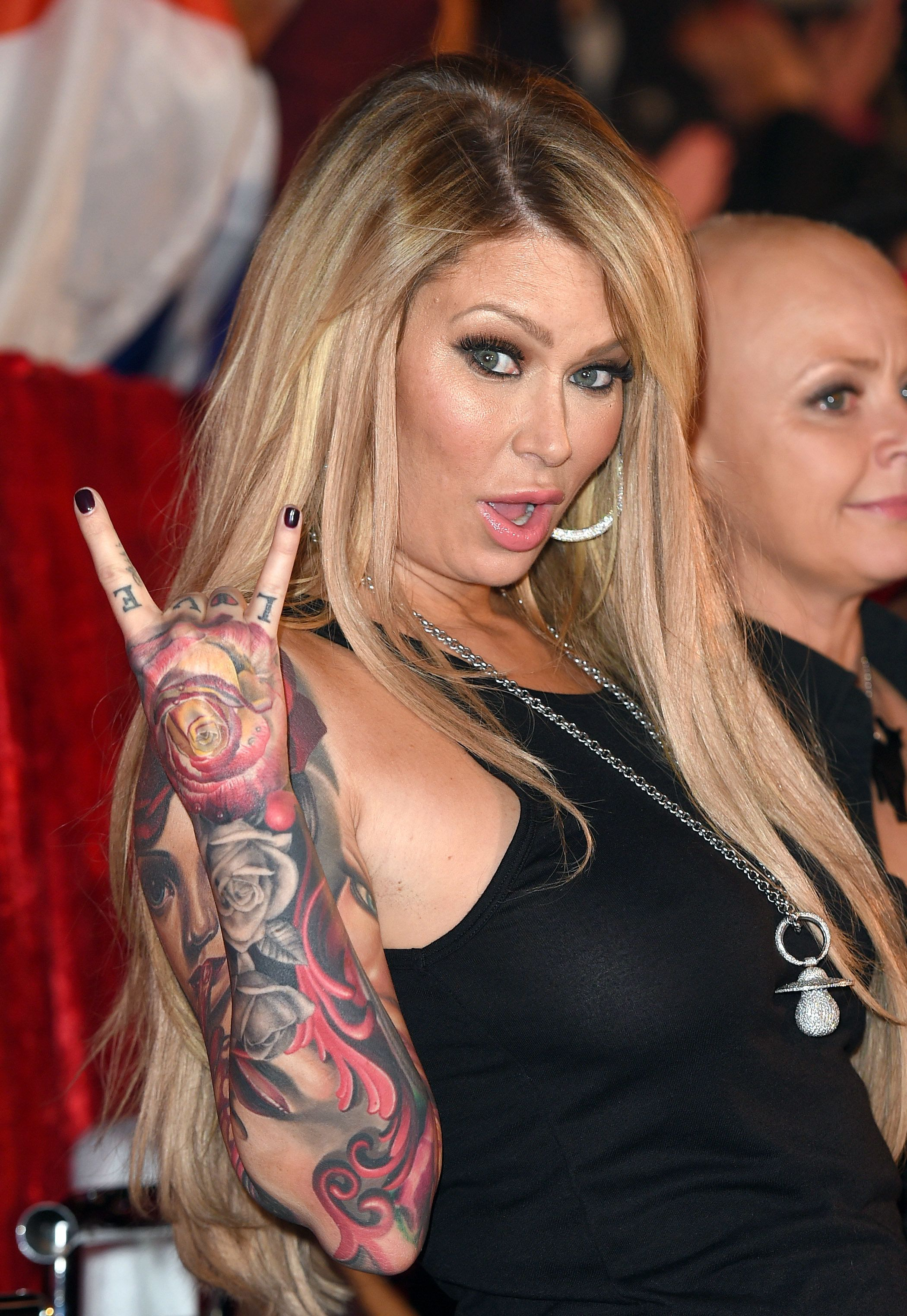 BOREHAMWOOD, ENGLAND - SEPTEMBER 24:  Jenna Jameson attends the Celebrity Big Brother Final at Elstree Studios on September 24, 2015 in Borehamwood, England.  (Photo by Karwai Tang/WireImage)
