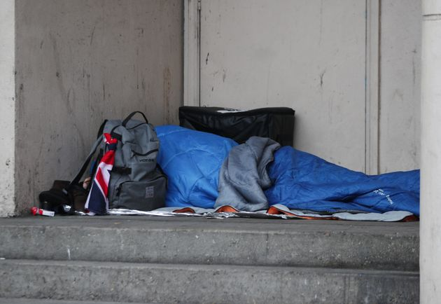 A rough sleeper in Farringdon,