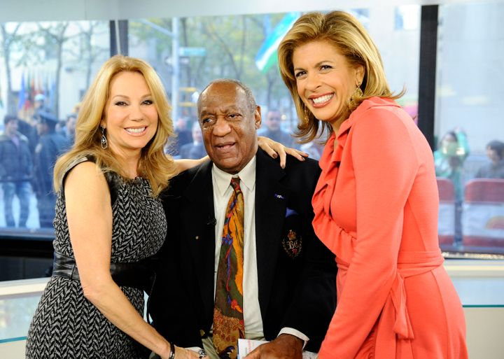 "Kathie Lee Gifford, Bill Cosby and Hoda Kotb on the ""Today"" show."