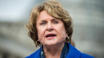 UNITED STATES - NOVEMBER 18: Rep. Louise Slaughter, D-N.Y., speaks during a news conference on the Trans-Pacific Partnership outside of the U.S. Capitol on Wednesday, Nov. 18, 2015. (Photo By Bill Clark/CQ Roll Call)
