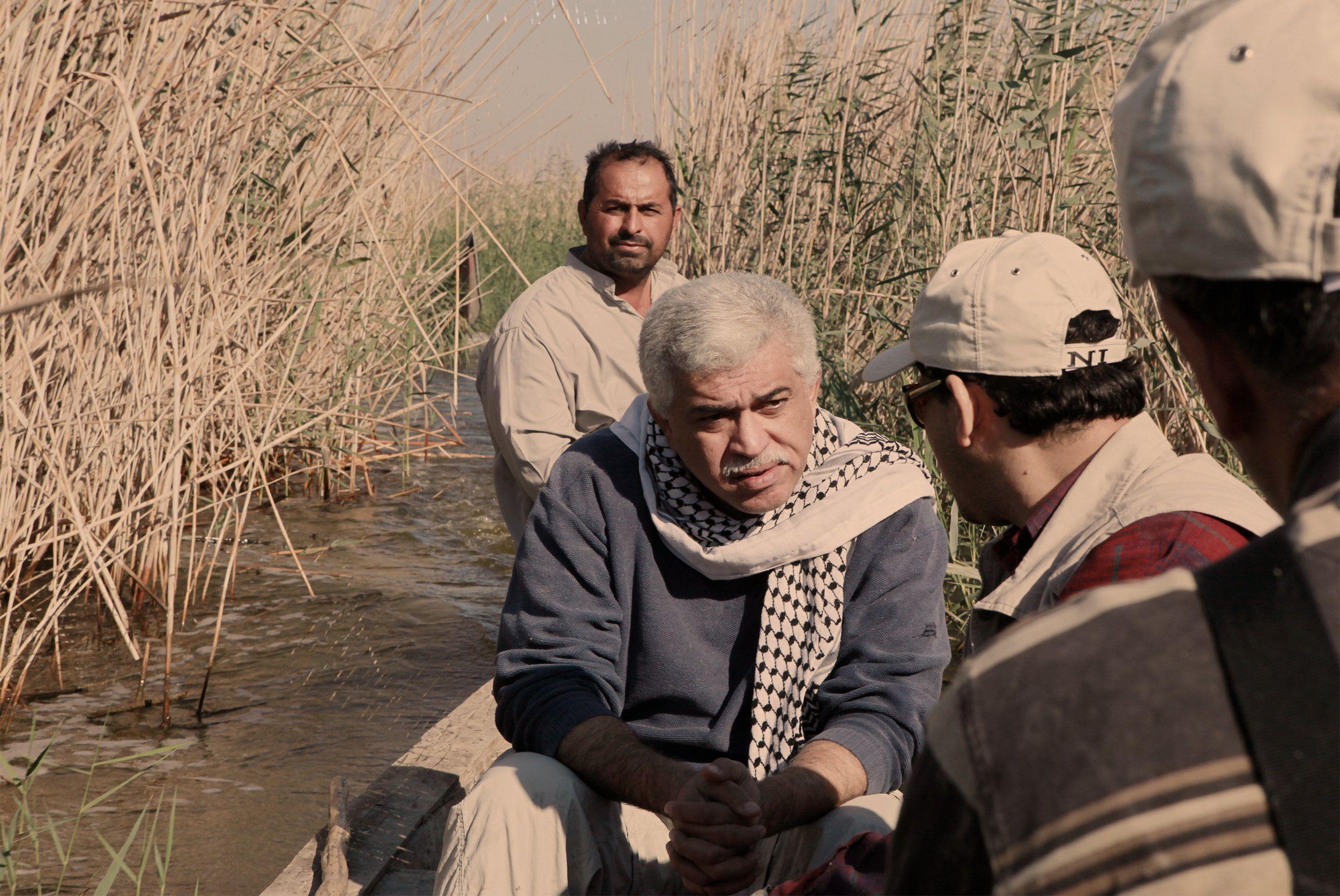Dr. Azzam Alwash tours marshlands in Iraq.