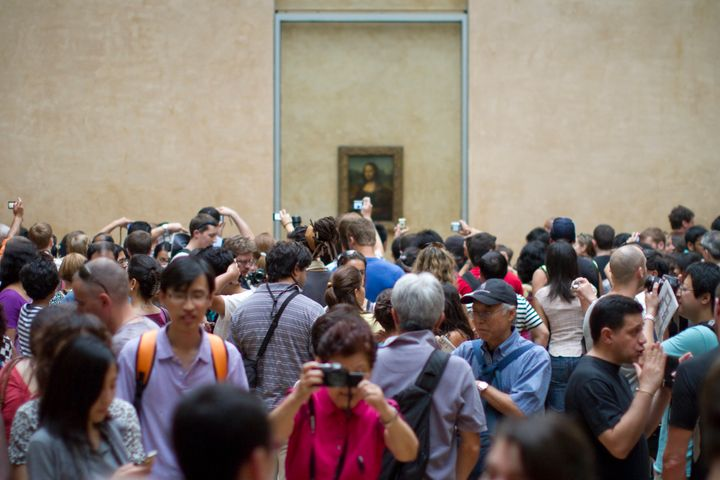 The Louvre in Paris can be packed during summer months.