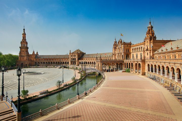 Seville in Andalucia, an autonomous area in southern Spain, can be over 100 degrees Fahrenheit in the summer.