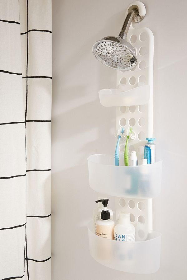 Organization doesn't just have to happen outside the shower.For under $30, this shower caddy has adjustable tiers for m