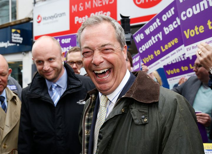 A victorious Nigel Farage