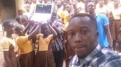 Ce professeur ghanéen n'aura plus à dessiner Microsoft Word pour l'enseigner à ses