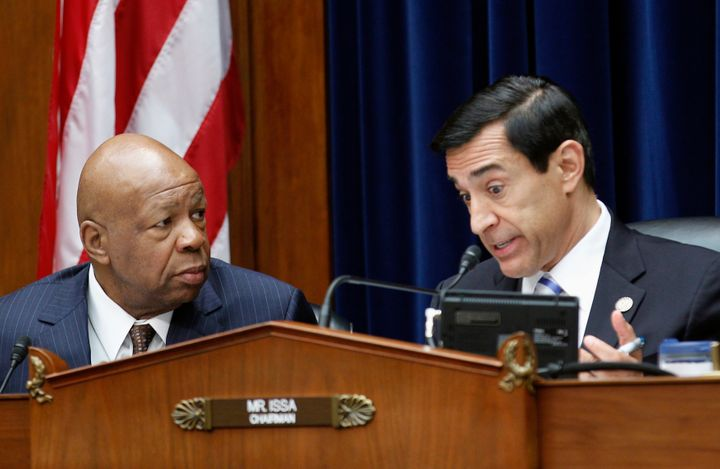 Former chairman of the House Oversight and Government Reform Committee Darrell Issa (R-Calif.) and Rep. Elijah Cummings
