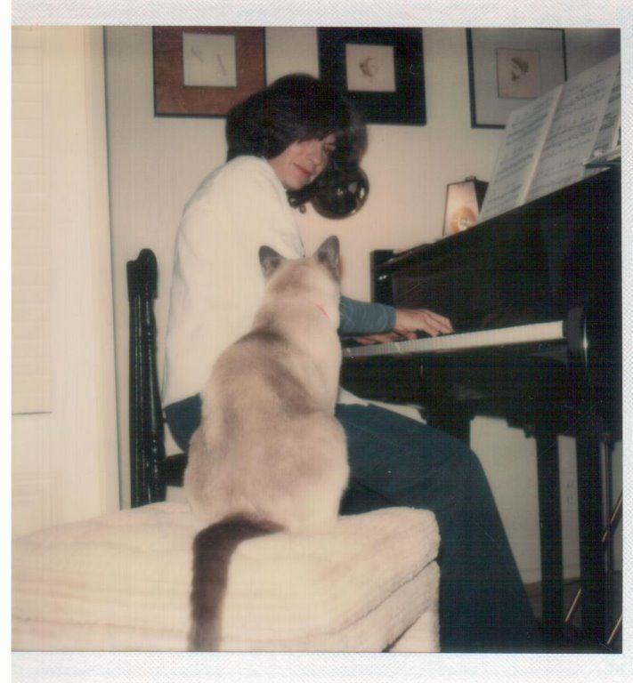 Margo Guryan and her cat.