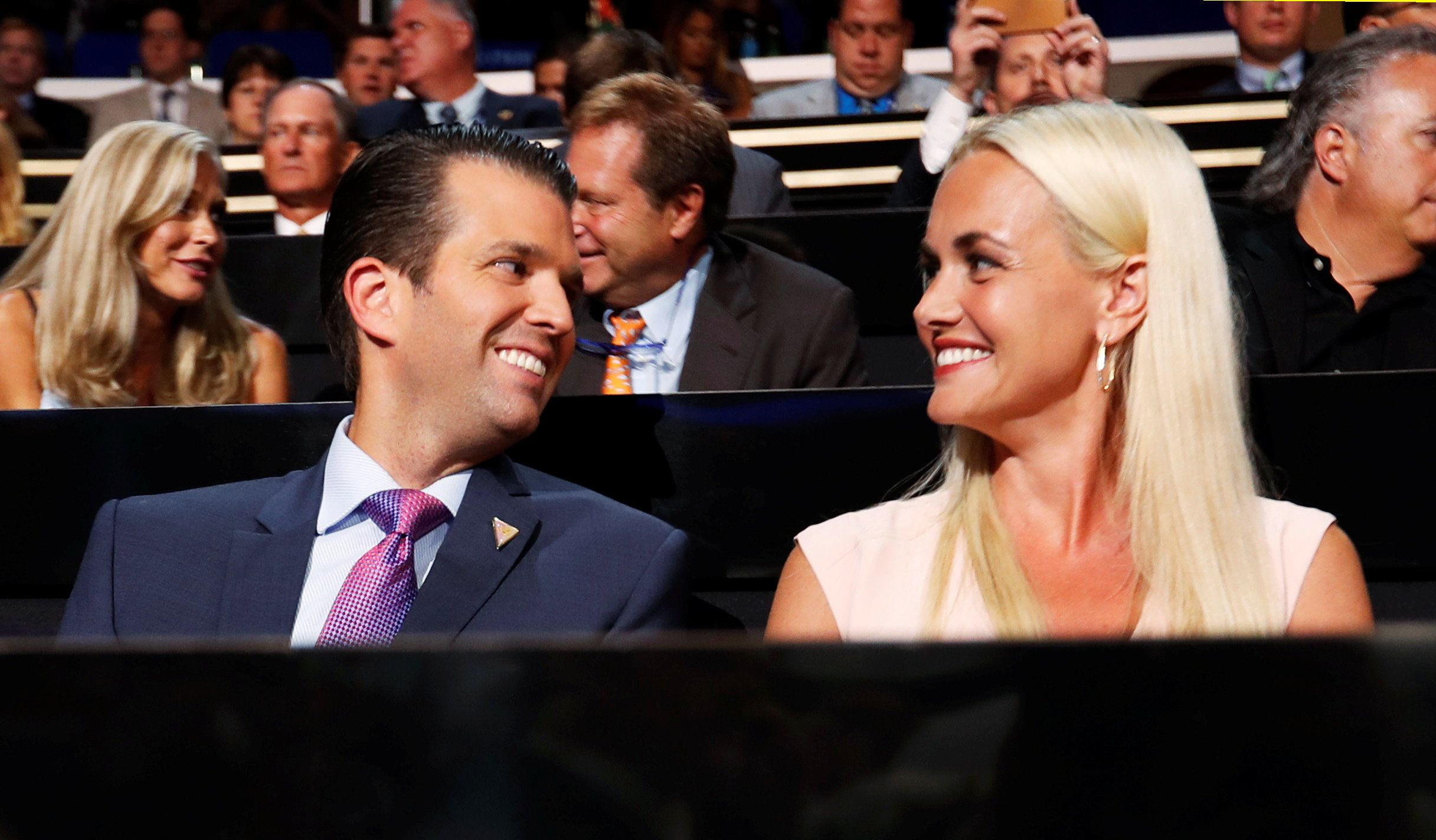 FILE PHOTO: Donald Trump Jr. and his wife Vanessa attend the second day session at the Republican National Convention in Cleveland, Ohio, U.S. July 19, 2016. REUTERS/Jonathan Ernst/File photo