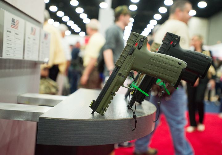 The NRA held its annual convention in Louisville, Kentucky, in May 2016, which included big names in gun manufacturing, like