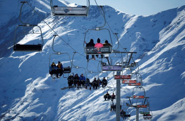 A chairlift malfunction at the Gudauri ski resort in the Caucasus mountain range in Georgia,shown in 2017, sent people