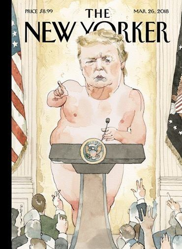 Barry Blitts naked Trump New Yorker cover