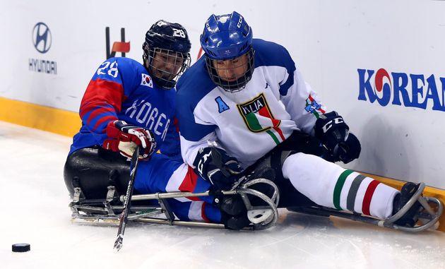 한국 패럴림픽 아이스하키 팀, 사상 첫