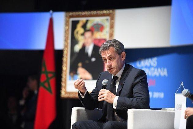 Nicolas Sarkozy au forum Crans Montana à Dakhla, le 16 mars