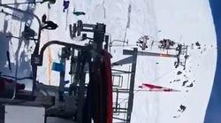 Πανικός σε χιονοδρομικό όταν τελεφερίκ αρχίζει να κινείται με την όπισθεν και με μεγάλη ταχύτητα πετώντας τους