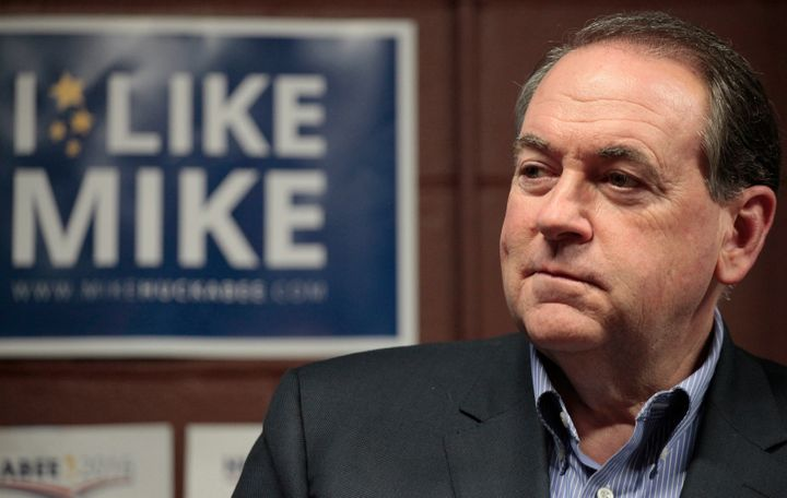 Former Arkansas Gov. Mike Huckabee at a campaign rally in January 2015, when he was a Republican presidential candidate.
