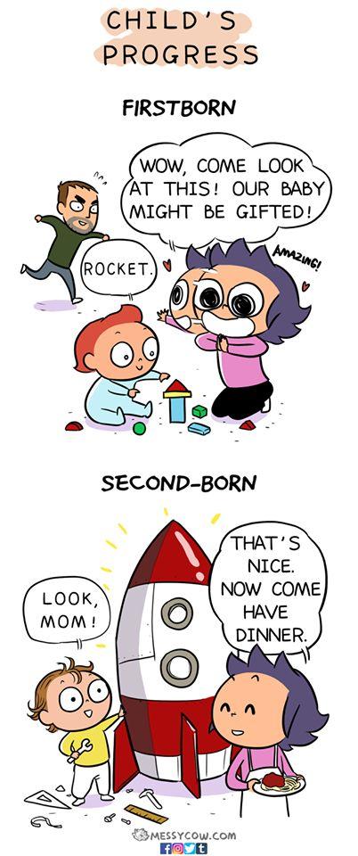 첫째 아이와 둘째 아이를 기를 때의 차이점