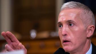 WASHINGTON, D.C. - MARCH 20: Rep. Trey Gowdy (R-SC) speaks a House Permanent Select Committee on Intelligence hearing concerning Russian meddling in the 2016 United States election, on Capitol Hill, March 20, 2017 in Washington, DC. While both the Senate and House Intelligence committees have received private intelligence briefings in recent months, Monday's hearing is the first public hearing on alleged Russian attempts to interfere in the 2016 election. (Photo by Zach Gibson/Getty Images)