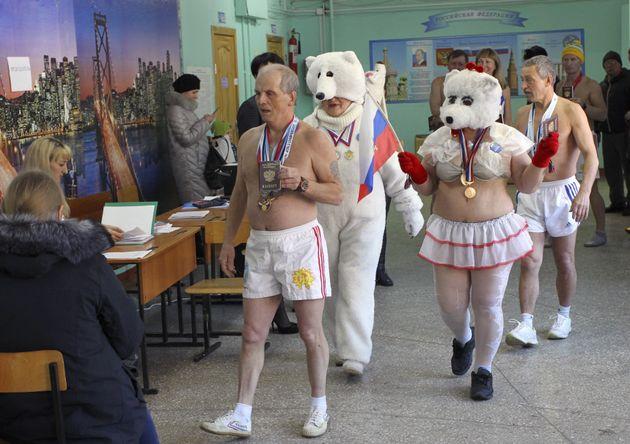 러시아 인들이 대통령 선거를 즐기는 방법은