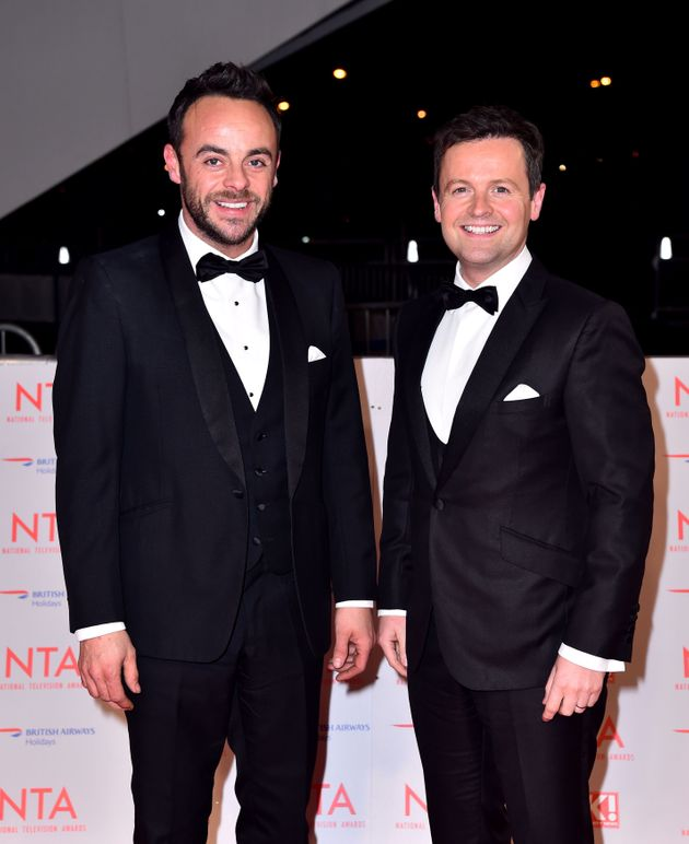 Ant with TV partner Declan