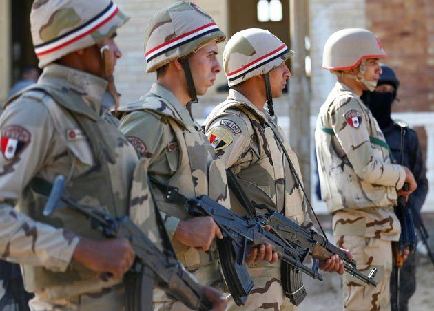 Des soldats au Sinai en Egypte, le 1er décembre 2017 - Photo