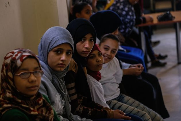 Nada, 14, (left) says Cairo girls who speak out about harassment are