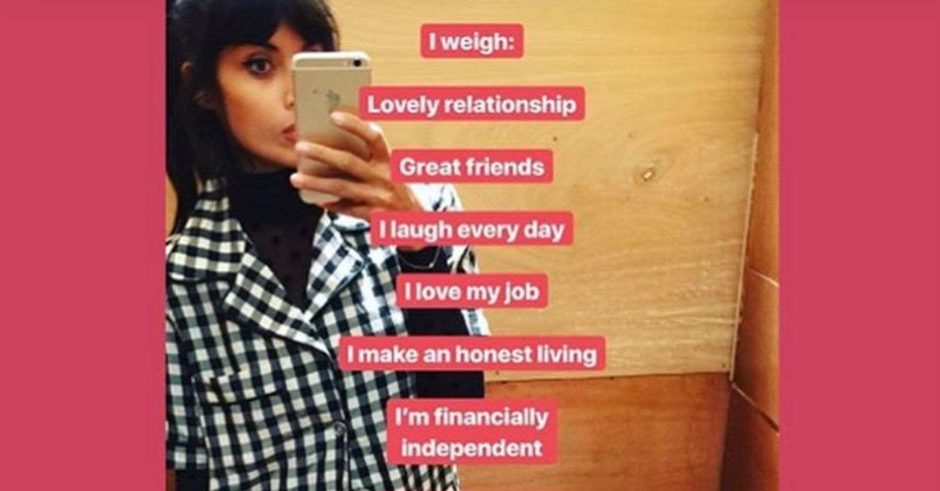 Jameela Jamil's 'I Weigh' Instagram Celebrates Body Positivity, Self-Worth