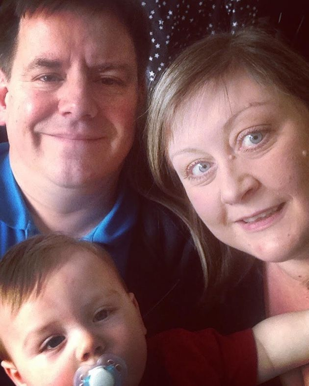 Denise Dearing, her husband and their son