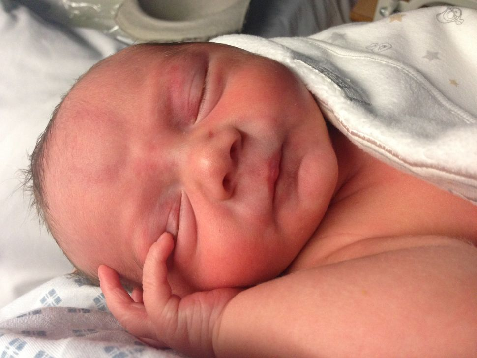 Denise's son George shortly after he was born.