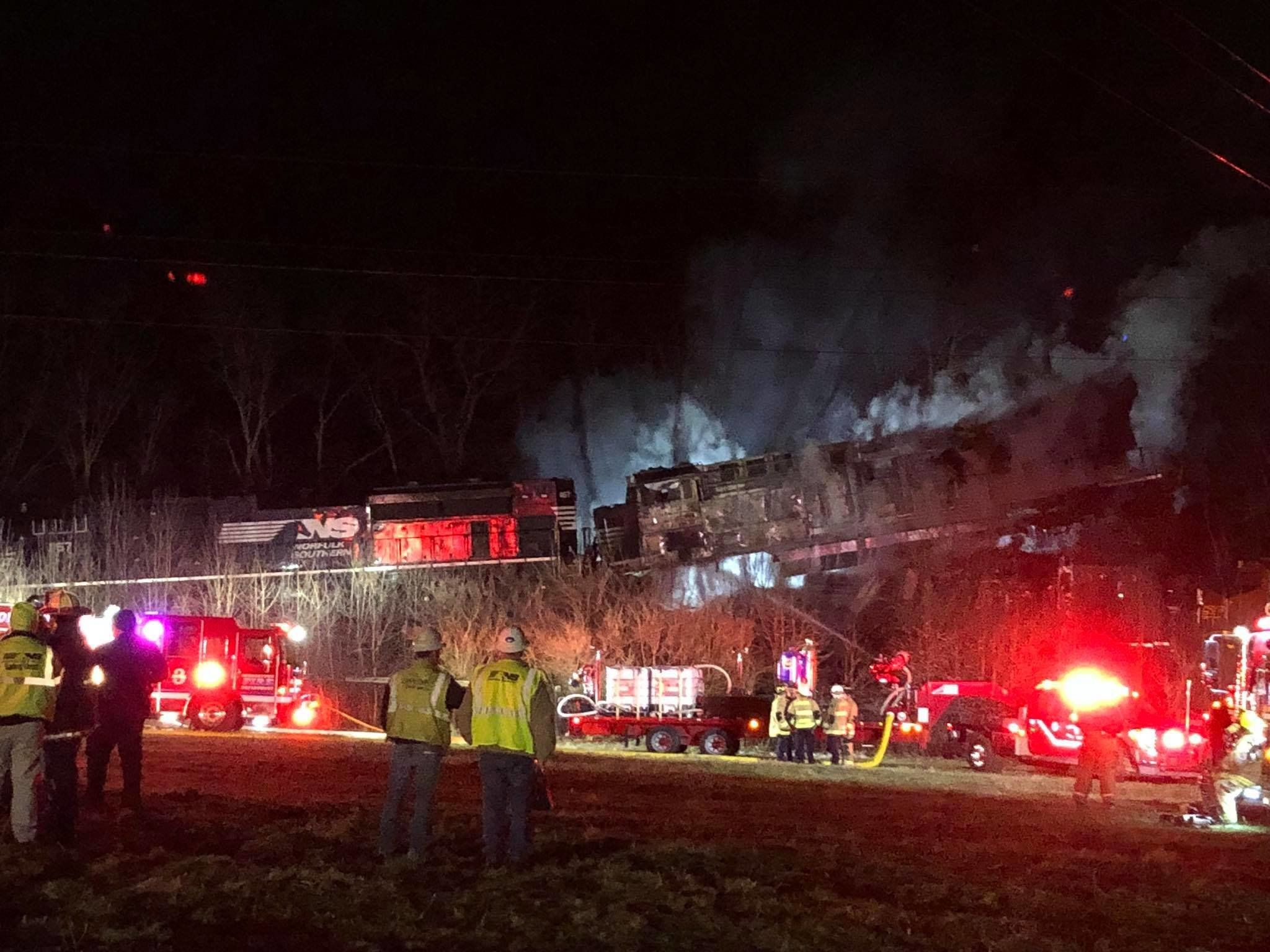 A freight train collision in Georgetown Kentucky late Sunday night left four people injured
