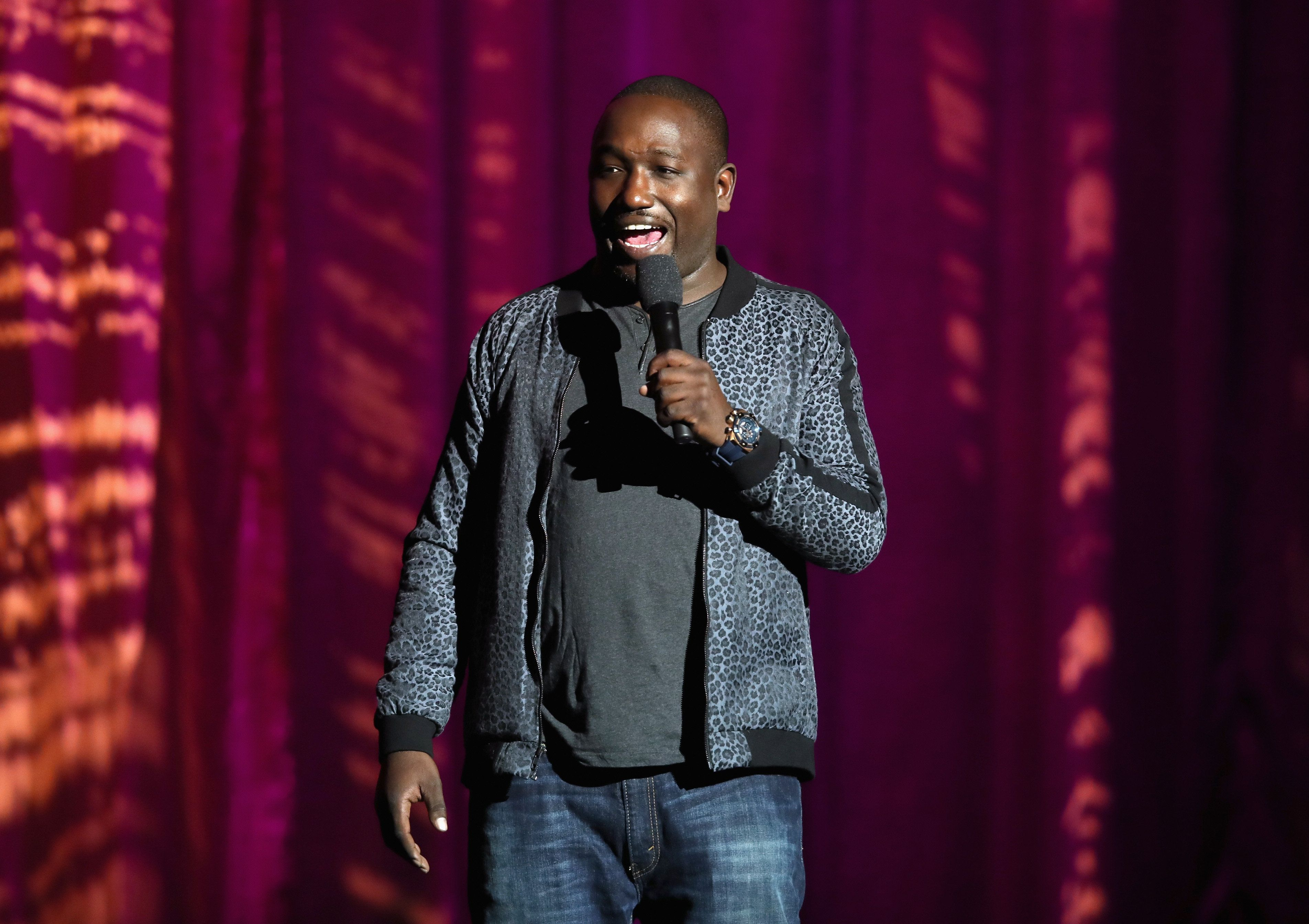 LOS ANGELES, CA - NOVEMBER 04:  Hannibal Buress performs onstage at the International Myeloma Foundation 11th Annual Comedy Celebration at The Wilshire Ebell Theatre on November 4, 2017 in Los Angeles, California.  (Photo by Brandon Williams/Getty Images for International Myeloma Foundation)
