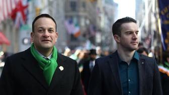 NEW YORK, USA - MARCH 17: Irish Prime Minister Leo Varadkar (C) takes part in the 2018 St. Patrick's Day parade on March 17, 2018 in New York, United States. (Photo by Atilgan Ozdil/Anadolu Agency/Getty Images)