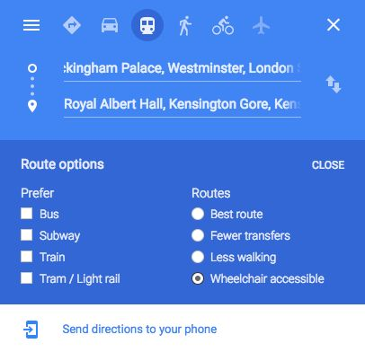 Google Maps Now Helps Wheelchair Users Navigate London's Public