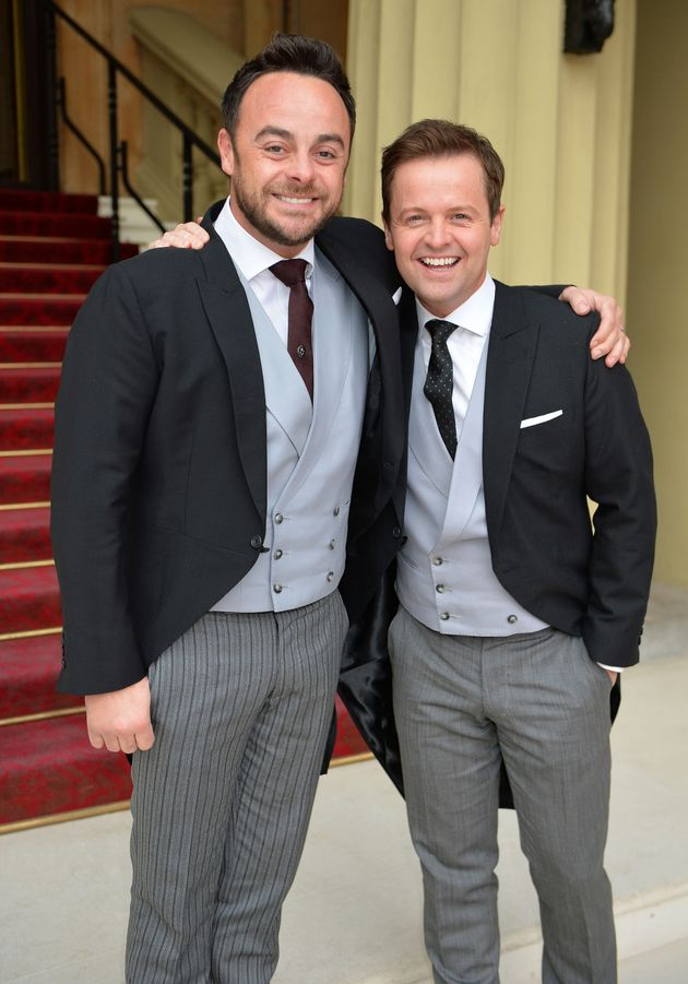 Ant and Dec at Buckingham Palace last year, after being awarded OBEs by the Prince of