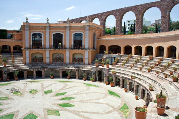 """The <a href=""""https://www.quintareal.com/Hotels/Details/QR/QRZAC"""" target=""""_blank"""">Quinta Real</a> in Zacatecas, Mexico, was co"""