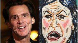 Jim Carrey Starts Controversy With Painting That Looks Like Sarah Huckabee