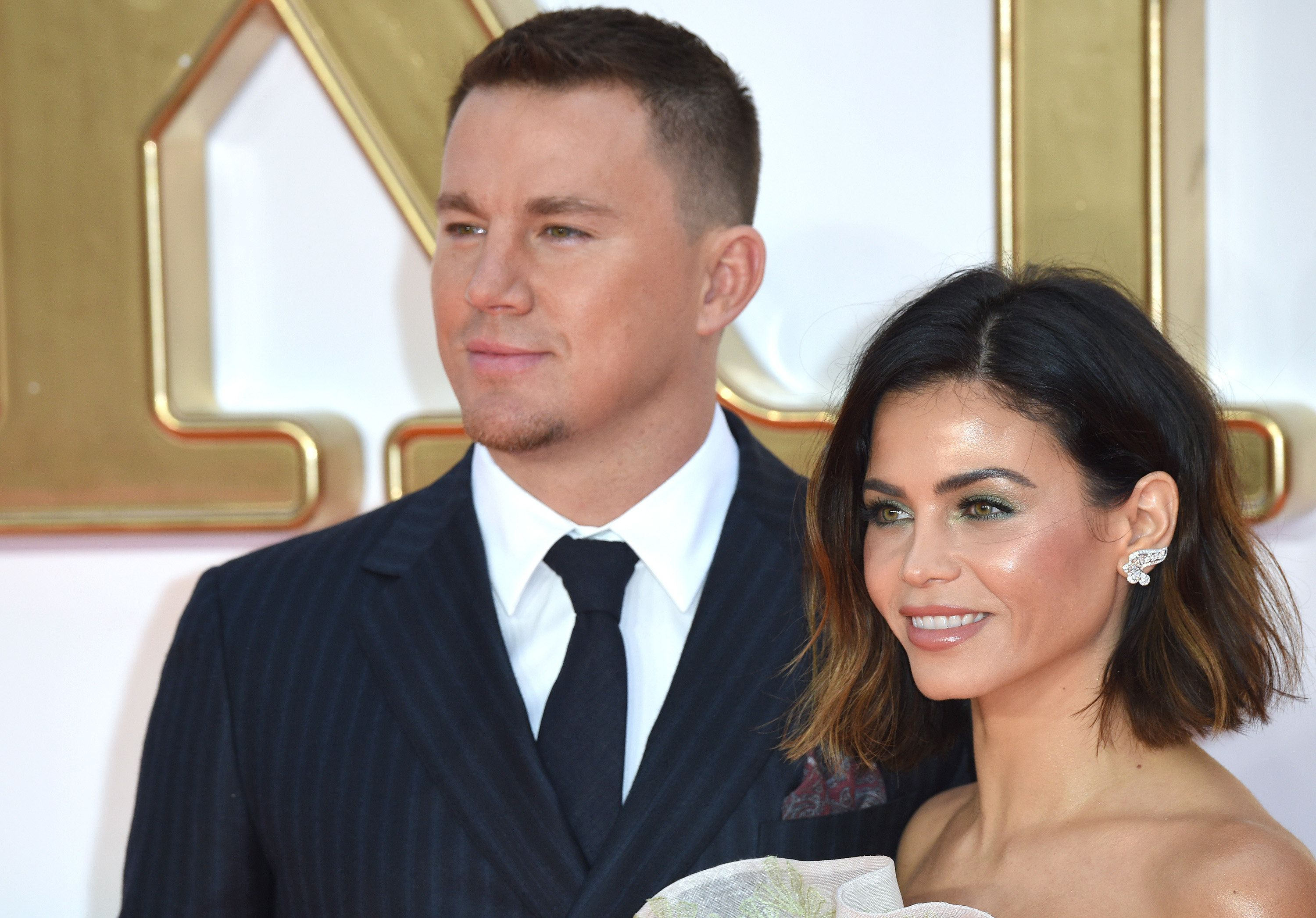 LONDON, ENGLAND - SEPTEMBER 18:  Channing Tatum and Jenna Dewan attend the 'Kingsman: The Golden Circle' World Premiere held at Odeon Leicester Square on September 18, 2017 in London, England.  (Photo by Anthony Harvey/Getty Images)