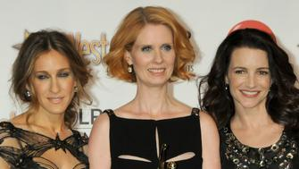 LAS VEGAS, NV - MARCH 18: Sarah Jessica Parker, Cynthia Nixon and Kristin Davis attend the ShoWest 2010 Final Night Talent Awards held at the Paris Las Vegas Hotel in Las Vegas, Nevada on March 18, 2010.  (Photo by Gregg DeGuire/FilmMagic)