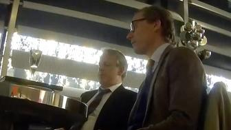 Cambridge Analyticas Alexander Nix and Mark Turnbull are seen during a secretly recorded interview with a Channel 4 reporter
