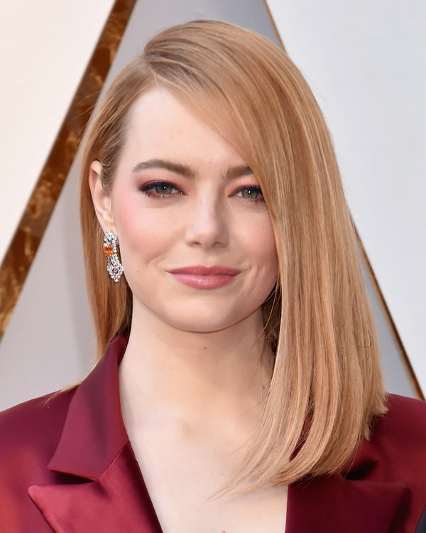 If you want to give this trend a go but aren't ready to jump in head first, take a cue from Emma Stone, who rocked this subtl