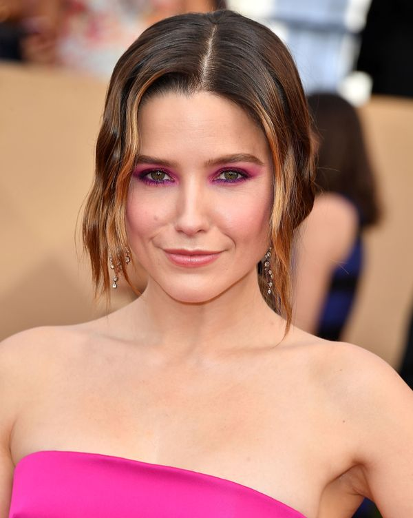 "Sophia Bush was ahead of the curve when she wore a similarly bright makeup look by makeup artist <a href=""https://www.instagr"