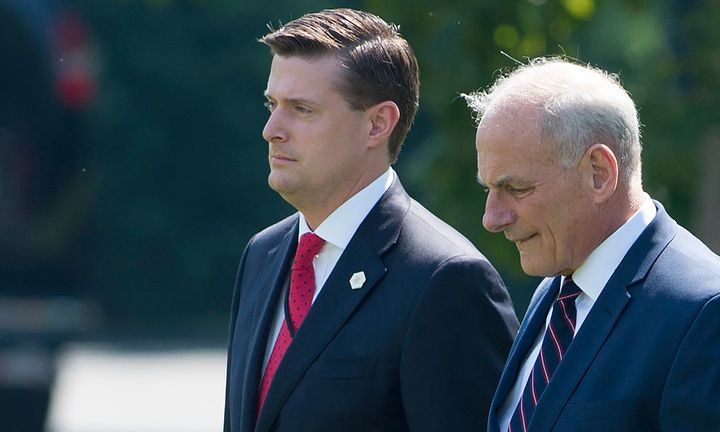 Rob Porter (left) lost his job as White House staff secretary after domestic violence accusations became public.