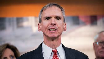 UNITED STATES - OCTOBER 09: Rep. Dan Lipinski, R-Ill., speaks at a news conference in the Capitol Visitor Center to introduce the Abortion Insurance Full Disclosure Act. The legislation would help people easily determine which insurance plans fund abortions when they are trying to enroll in President Obama' health care exchanges. (Photo By Tom Williams/CQ Roll Call)