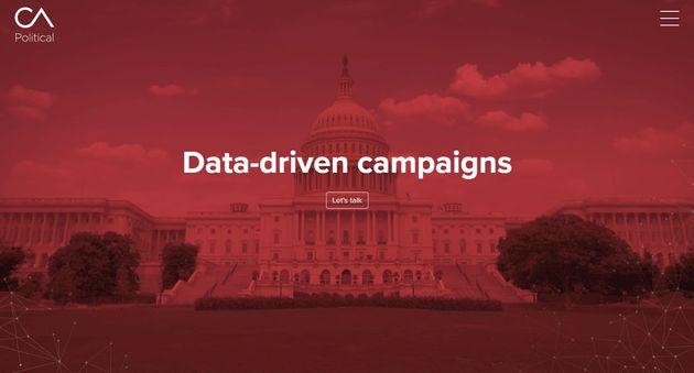 'Data-driven campaigns' - 케임브리지 애널리티카 폴리틱스 글로벌