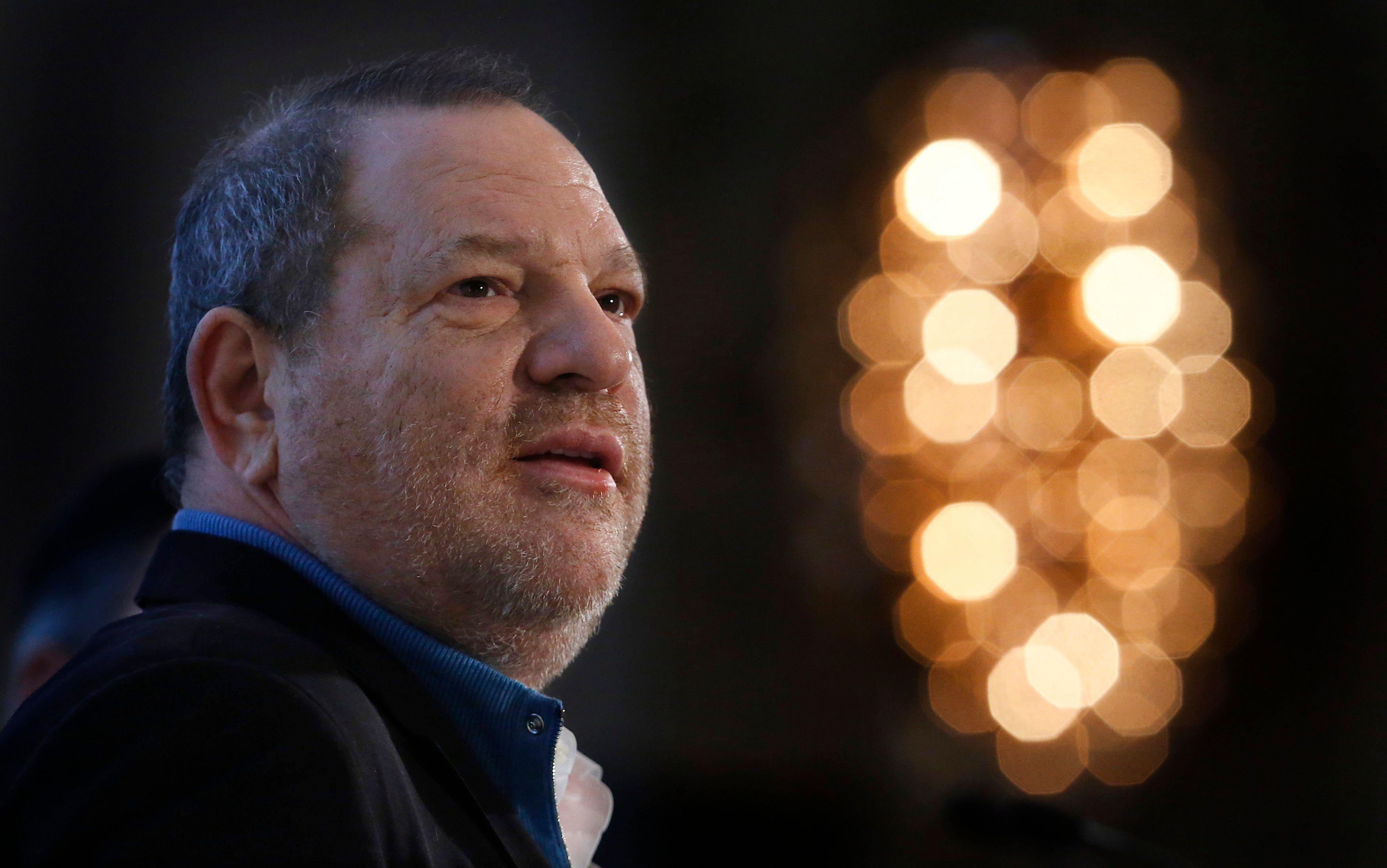 Harvey Weinstein, Co-Chairman of The Weinstein Company, speaks at the UBS 40th Annual Global Media and Communications Conference in New York, December 5, 2012. REUTERS/Carlo Allegri  (UNITED STATES - Tags: BUSINESS HEADSHOT ENTERTAINMENT)