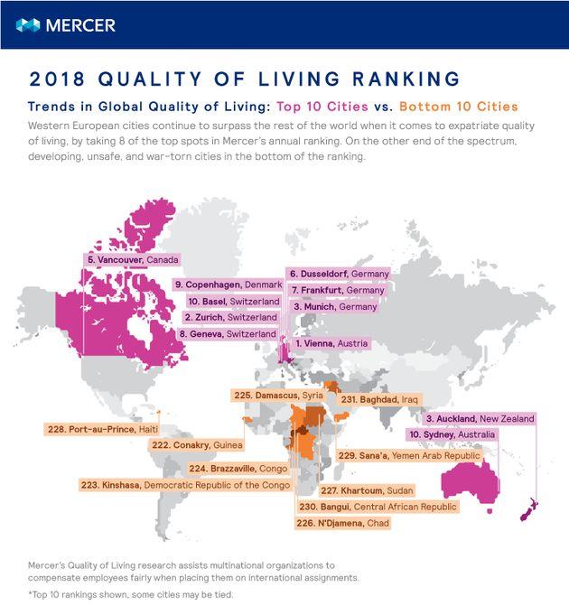 Ανοίξτε τον χάρτη: Ανακοινώθηκαν οι πόλεις με την καλύτερη ποιότητα