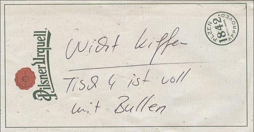 Kellner schob Gästen einen Zettel zu – was darauf stand, bewahrte sie vor