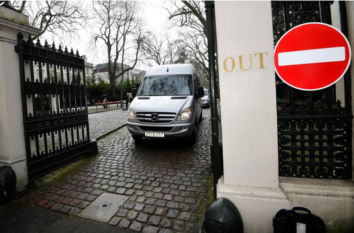 Russian Diplomats Leave UK Embassy Ahead Of PM's Exit