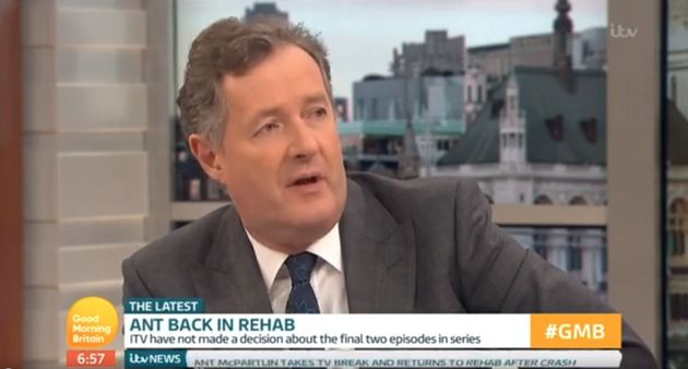Piers spoke about Ant's return to rehab on 'Good Morning